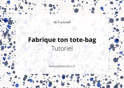Fabrique ton tote-bag sans couture !