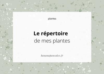 Le répertoire de mes plantes