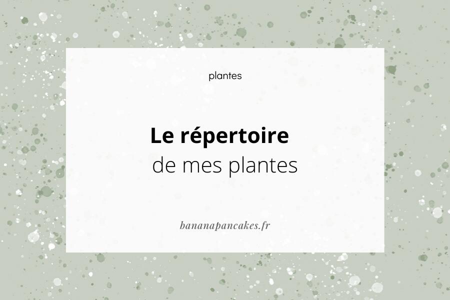 répertoire plante