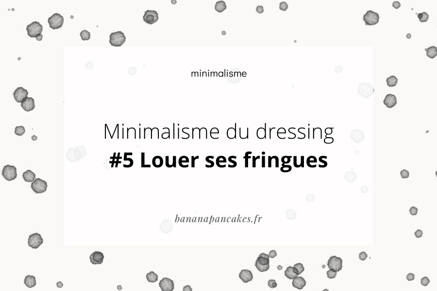 minimaliste dressing location