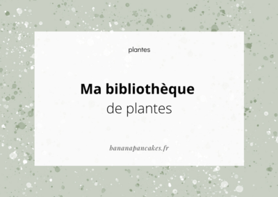 Bibliothèque de plantes