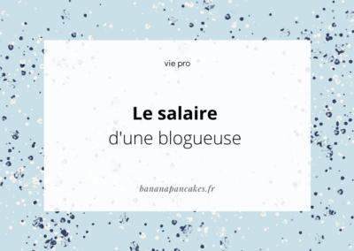 Le salaire d'une blogueuse