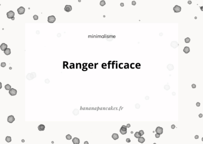 Ranger efficace