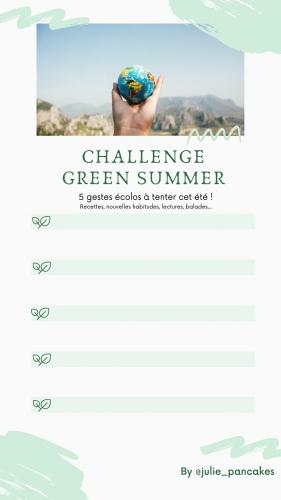 challenge, ecolo, été