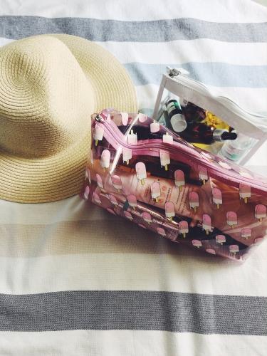 valise, beauté, vacances