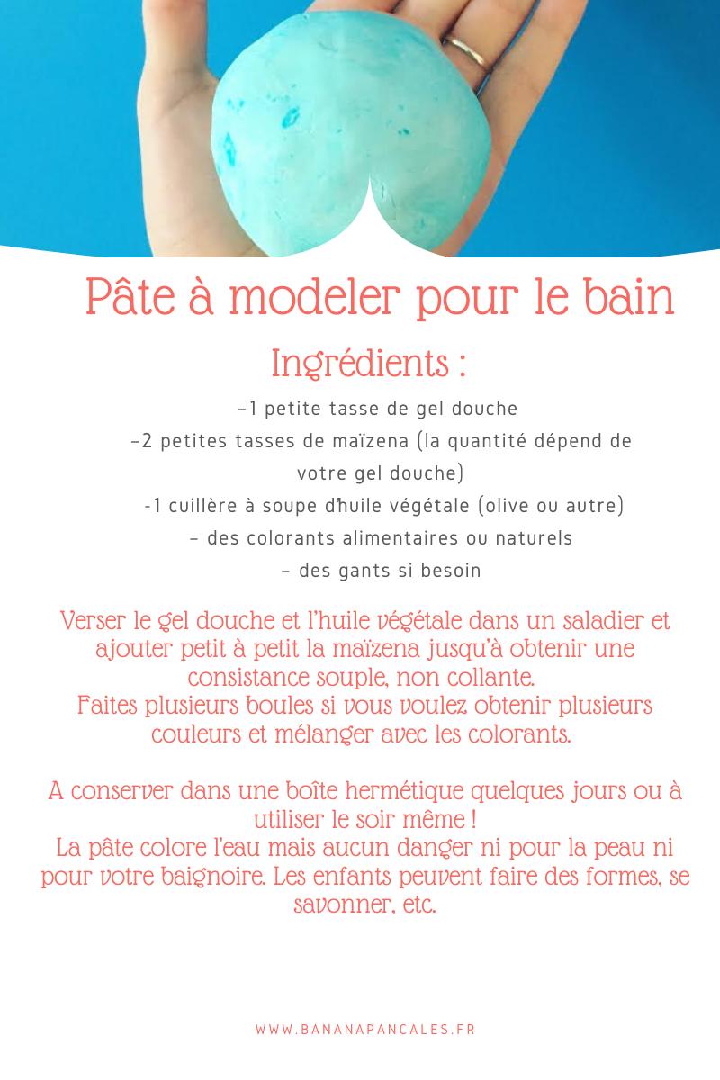 Pate A Modeler Pour Le Bain kids : pâte à modeler pour le bain - banana pancakes